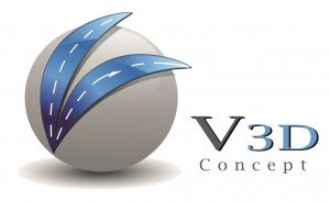 Logo V3D Concept